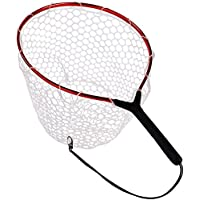 YONGZHI Fly Fishing Net with Soft Rubber Mesh Trout Catch...