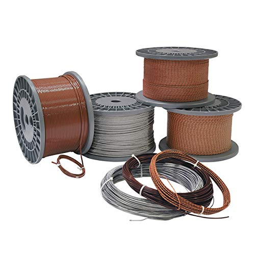 Solid thermocouple Wire, Type J, 20 AWG, Fiberglass, Stainless Steel Over Braid, 100ft. by FMX