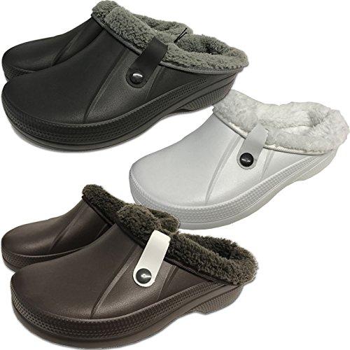 Clogs Hausschuhe Clog von JEMIDI warm gefüttert Hausschuh Kinder Damen Herren Jungen Schuhe Blau