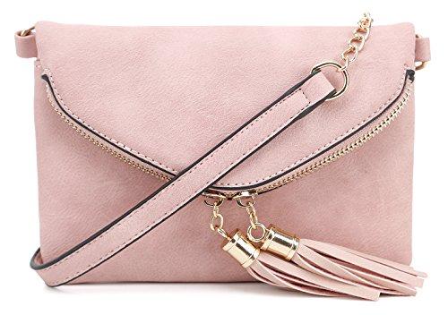 Adjustable Chain Strap - Lily Jane Crossbody Tassel Bag with Adjustable Chain Strap