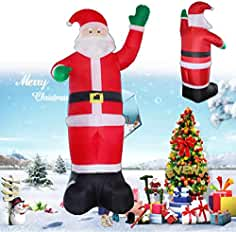 Viet-SC Inflatable Bouncers - Inflatable Santa Claus Christmas Tree Outdoor Lawn...
