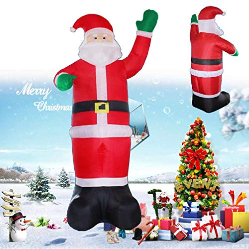 Viet-SC Inflatable Bouncers - Inflatable Santa Claus Christmas Tree Outdoor Lawn Yard Decor Airblown 220V Home Decoration 1 PCs]()