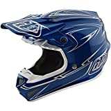 2018 Troy Lee Designs SE4 Polyacrylite Pinstripe Helmet-Blue-XS
