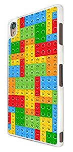 872 - Multi Blocks Logo Fun Print Design For Sony Xperia Z1 Fashion Trend CASE Back COVER Plastic&Thin Metal