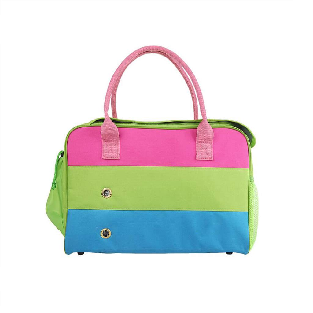 451830cm DUHUI Pet travel bag dog backpack out carrying bag pet bag portable pet bag,Pink,green,bluee (Size   45  18  30cm)