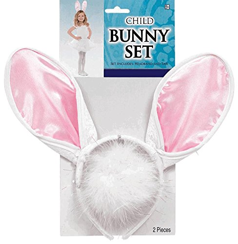 Amscan Girls Halloween Costume Accessory Set - Bunny