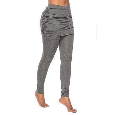 Gusspower Mujeres Falda Pantalon Yoga Sport, Entrenamiento de ...