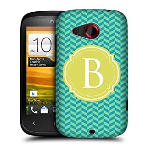 DIY Case Designs Letter B Cases Protective Snap-on Hard Back Case Cover for HTC Desire C by ruishername
