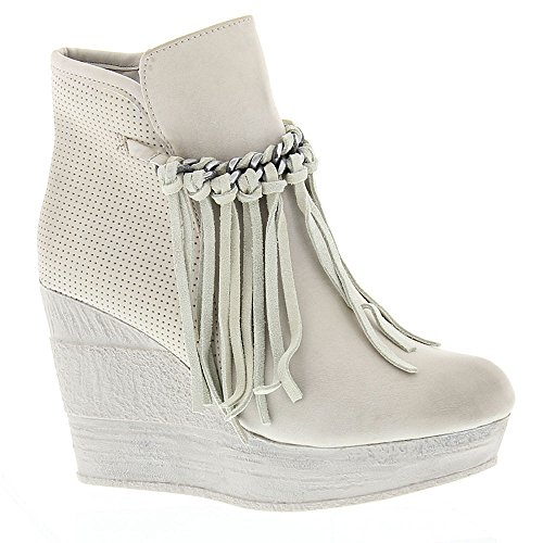 - Sbicca Women's ZIng Wedge Boot, Bone, 7 B US