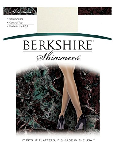 Berkshire Women's Shimmers Pantyhose 4429, Ivory, Size 2