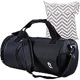 MyKazoe Water Resistant Swim / Gym Duffle Bag With Shoes Compartment + Bonus Waterproof Wet Bag