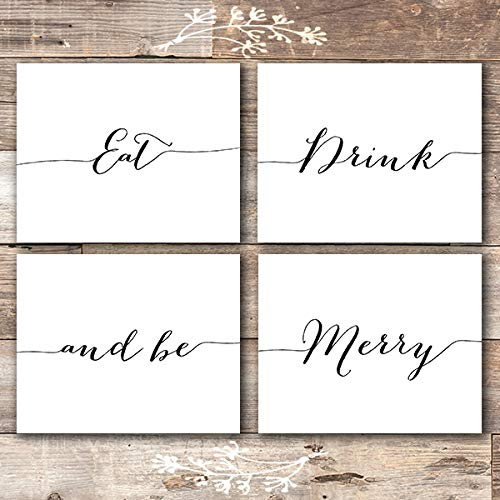 Merry Sign - Eat Drink and Be Merry Wall
