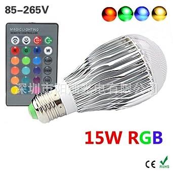 NIKU Led RGB Bubble Lampe Dimmbar 15W Glühlampe E27 Bunt Bunte LED Lampe