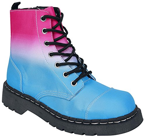 TUK Anarchic 7 Eye Ladies Boots Bright Ombre