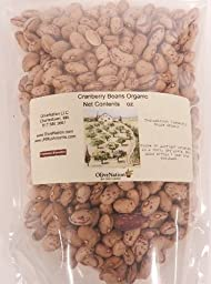 Organic Cranberry Beans 1 lb by OliveNation