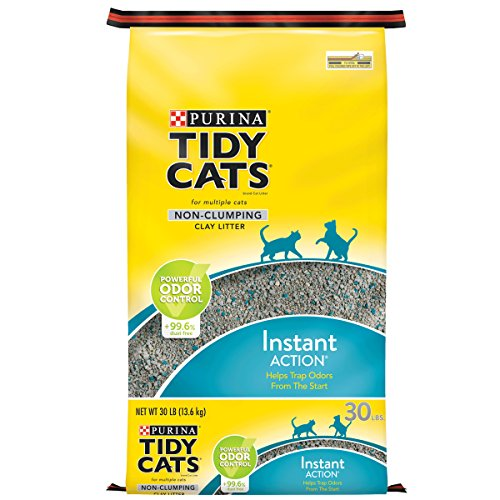 Purina Tidy Cats Non Clumping Cat Litter; Instant Action Low Tracking Cat Litter - 30 lb. Bag]()