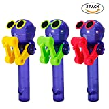 Creative Design Eating Lollipop Robot Lollipops Holder 3 Color Options Funny Lollipops Stand Gifts Fashion Decompression Toys (3PCS-Green&red&Yellow)