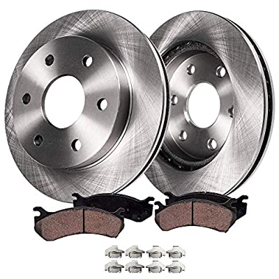 Detroit Axle - Complete Rear Brake Kit Rotor Set & Brake Kit Pads w/Clips Hardware Kit Premium GRADE for 2005-2011 Ford F-150 - [2006-2008 Lincoln Mark LT]: Automotive