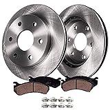 "Detroit Axle - 12"" (305mm) 6-Lug Front Brake Kit Rotors & Pads w/Clips Hardware for 1999-2006 Silverado/Sierra 1500 4-Wheel Disc Brake Kit - 02-06 Escalade/Avalanche - [01-06 Suburban, Yukon XL,Tahoe]"