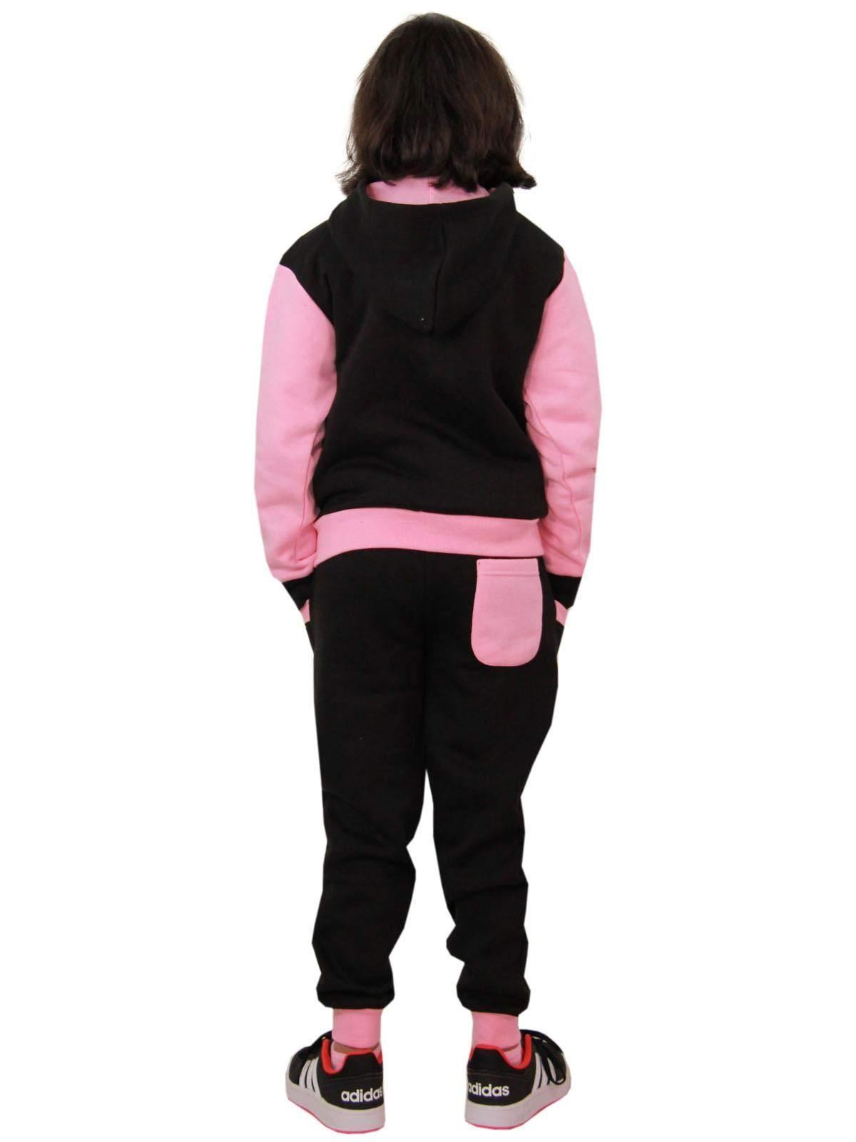 LOTMART Kids Plain Tracksuit Jumper in Pink 13-14 Years