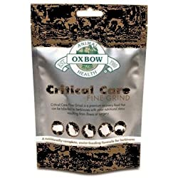Oxbow Fine Grind Critical Care for herbivores, Bunny Rabbit, Gerbils, Chinchilla, Bearded Dragon, Hamster & Guinea Pig,Helps for Animals who Stopped Eating, its Used by Feeding Tube or Hand Syringe