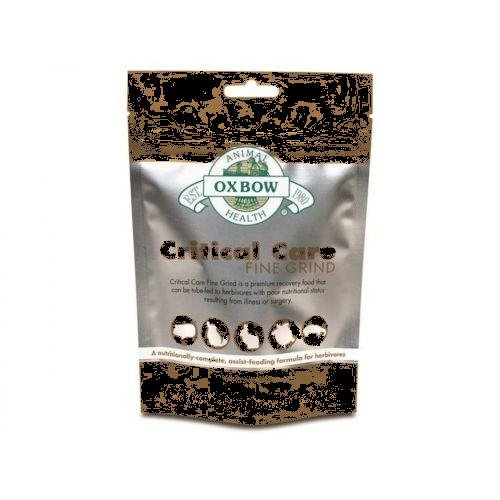 Oxbow Fine Grind Critical Care for herbivores, bunny rabbit, gerbils, chinchilla, bearded dragon, hamster & guinea pig ,helps for animals who stopped eating , its used by feeding tube or hand syringe by Unknown