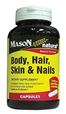 Mason Vitamins Body Hair Skin & Nails Beauty Formula, 60 Capsule