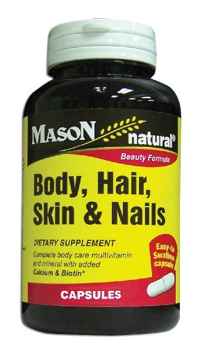 Mason Vitamins Body Hair Skin & Nails Beauty Formula, 60 Cap