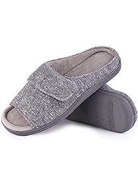 Snug Leaves Women's Memory Foam Slippers with Adjustable Sticker
