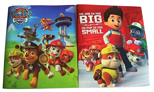 Paw Patrol Set of 2 Poly Folders ~ No Job is Too Big, No Pup is Too Small (Two Pocket Folders with Prongs)