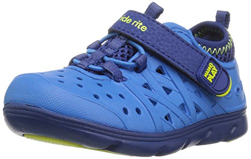 Stride Rite Made 2 Play Phibian Sneaker Sandal Water Shoe (Toddler/Little Kid/Big Kid), Blue, 9 M US Toddler