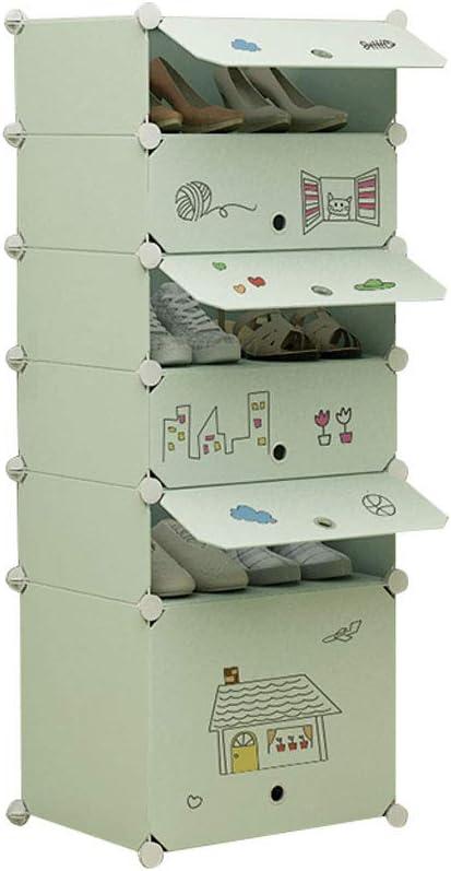 Xiuyun La Capacidad de múltiples Funciones del Cubo del Estante del Zapato Modular Puede almacenar Las Botas Altas convenientes para los dormitorios del Pasillo de la Sala de Estar: Amazon.es: Hogar