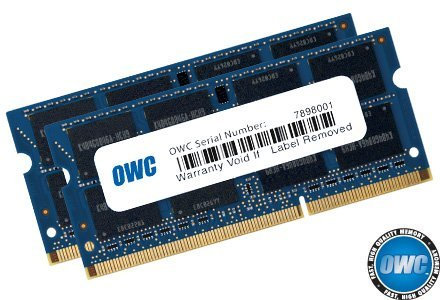 OWC 16.0GB (2 x 8GB) PC3-12800 DDR3L 1600MHz SO-DIMM 204 Pin CL11 Memory Upgrade Kit For iMac, Mac mini, and MacBook Pro by OWC