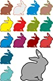 Rabbit Hang Tag Set Digitally Printed Assorted Craft Paper Birthday Gift Tag