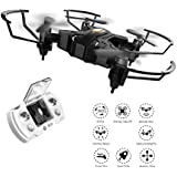Stable Mini Drone for Kids Gift with Altitude Hold Mode, One Key Take off Landing, 3D Flips and Headless Mode Portable Pocket Quadcopter for Beginner,Black by BIZONOD