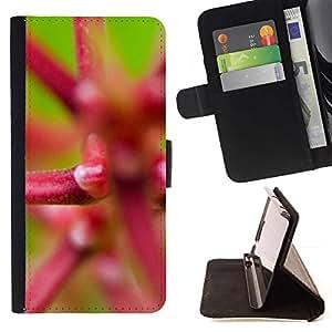Momo Phone Case / Flip Funda de Cuero Case Cover - Planta Naturaleza Forrest Flor 21 - HTC One Mini 2 M8 MINI