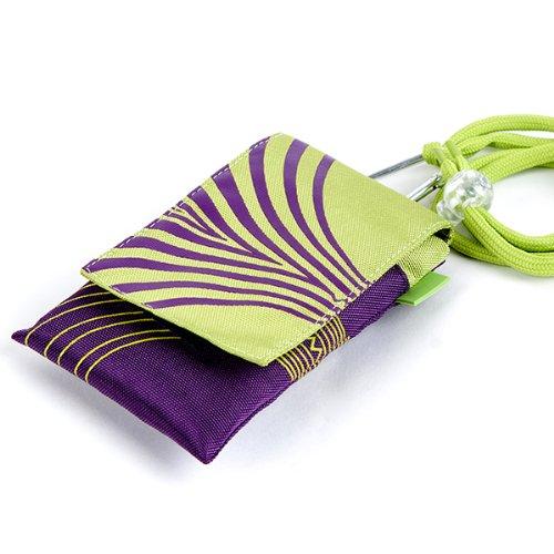 NFE² Jugendliches Leinen Etui grün - violett für Apple iPhone 3G
