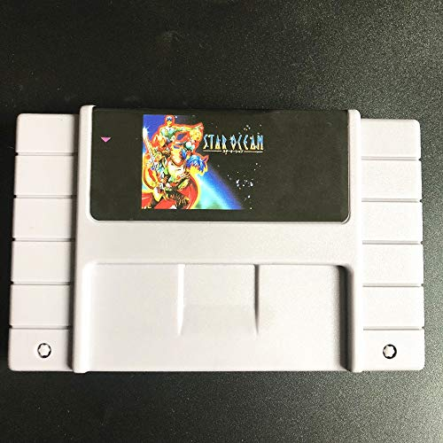 ASMGroup Save file Star Ocean Game Cartridge 16 Bit 46 Game Card SNES For USA Version Game Player (Difference Between Super Famicom And Super Nintendo)