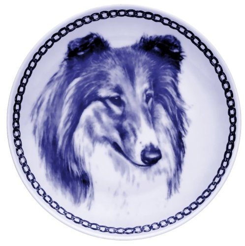 Collie Rough Sable white Lekven Design Dog Plate 19.5 cm  7.61 inches Made in Denmark NEW with certificate of origin PLATE  7504