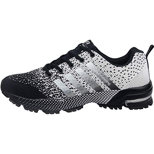 Zapatillas Negro Hombre 46 Gris Para Running Deportivas Casual Wealsex Correr Deporte Y Zapatos 35 gqwCxS
