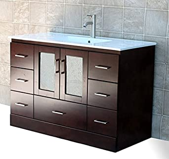 ELIMAX S MO 4821CT Bathroom Vanity Cabinet Top Sink 48 Inch Bathroom Vanity Cherry Single Amazon Industrial & Scientific