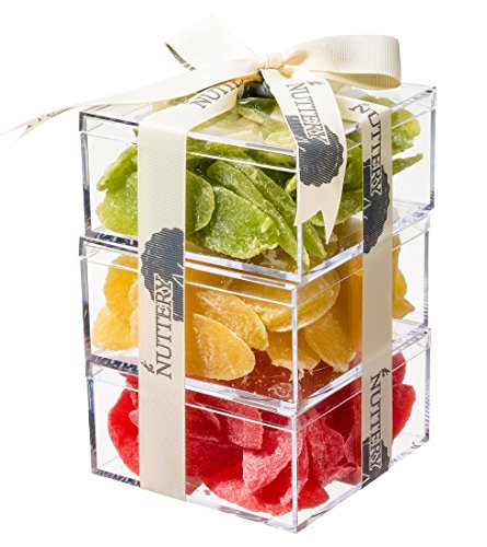 The Nuttery Premium Dried Fruit Gift Tower ~ Strawberry ~ Cantaloupe ~ Kiwi ~