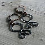 Tiny Troll Cross Earrings in Copper - Viking Pagan Jewelry
