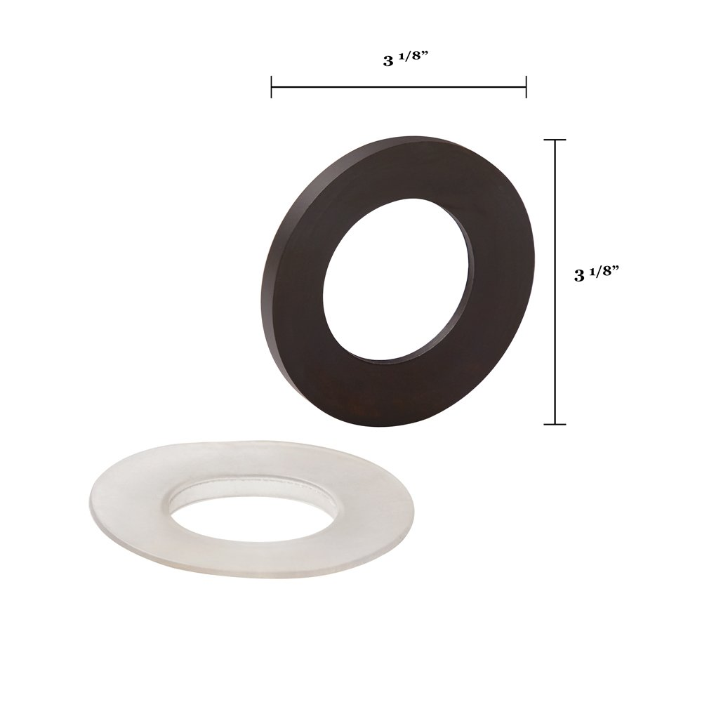 Ronbow Essentials Mounting Ring - For Between Glass Vessel And Top - Oil Rubbed Bronze 704001-RB
