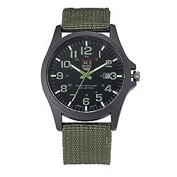 XINEW Fashion Luxury Outdoor Sports Men's Watch Calendar Date Mens Steel Analog Quartz Watch Military Army Wrist Watches