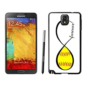 Diy Samsung Galaxy Note 3 Case Colorful Soft TPU Silicone Black Phone Cover Softball Forever Softball Infinity Forever