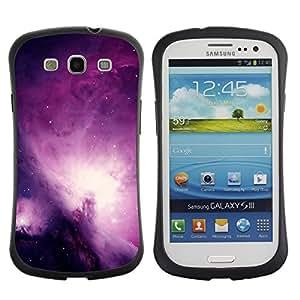 Suave TPU GEL Carcasa Funda Silicona Blando Estuche Caso de protección (para) Samsung Galaxy S3 I9300 / CECELL Phone case / / Universe Purple Galaxy Stars Night Sky /
