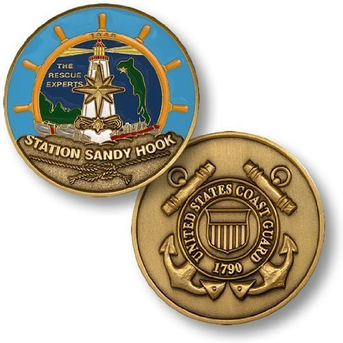 Coast Guard Station Sandy Hook Challenge Coin (Coast Guard Station)