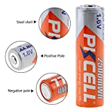 4 Pcs Rechargeable AA Batteries 1.6V NiZn 2500mWh