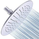 Albustar Luxury Rainfall Shower Head With High Pressure and Spa Experience, Polished Chrome, Easy Installation